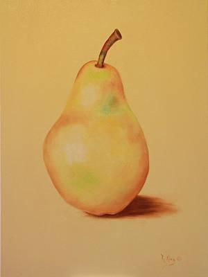 Painting - Lone Pear by Roena King