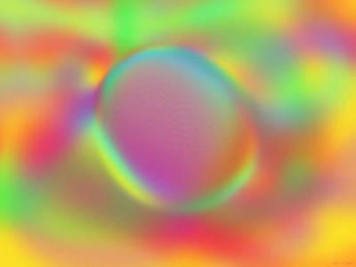 Digital Art - Lone Pebble by Elizabeth S Zulauf