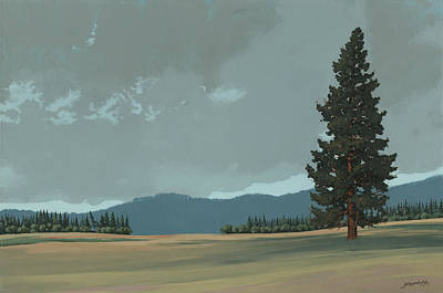 Painting - Lone Pine by John Wyckoff