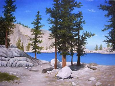 Painting - Lone Pine Lake by Francine Henderson