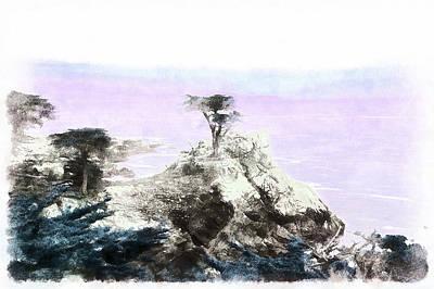 Lone Pine Pebble Beach Art Print