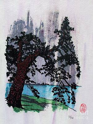 Lone Pine Tree In Summer Squall Art Print by Roberto Prusso