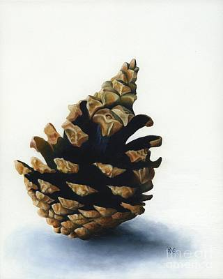 Painting - Lone Pinecone by Rosellen Westerhoff