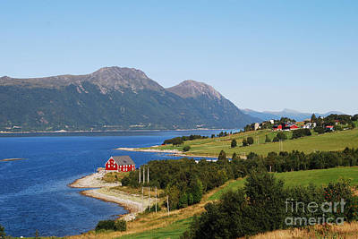 Photograph - Lone Red House On The Shore by Ankya Klay
