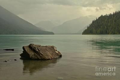 Photograph - Lone Rock In Cheakamus Lake by Adam Jewell
