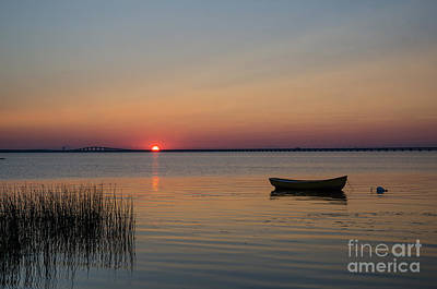 Photograph - Lone Rowing Boat by Kennerth and Birgitta Kullman