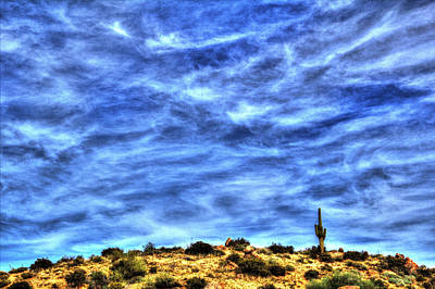 Photograph - Lone Saguaro On A Hilltop by Roger Passman