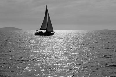 Photograph - Lone Sailboat by Alexey Stiop