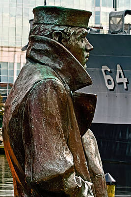 Photograph - Lone Sailor Bronze by Jerry Gammon