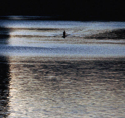 Unique Photograph - Lone Sculler On The Charles River by Tom Wurl