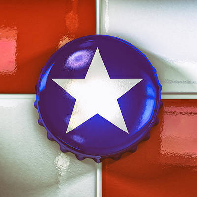 Reflections Digital Art - Lone Star Beer by Scott Norris