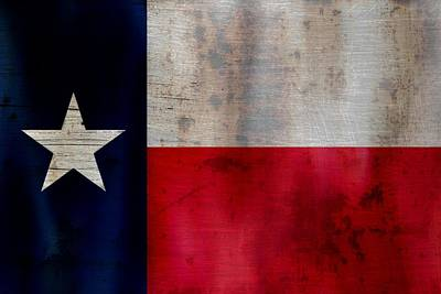 Strong America Photograph - Lone Star Flag by Dan Sproul