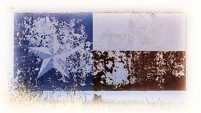 Photograph - Lone Star Flag Mural by Nadalyn Larsen