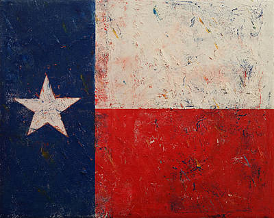 Blue And Red Painting - Lone Star by Michael Creese