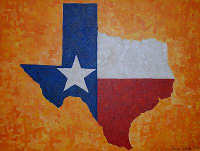 Painting - Lone Star State by Lone Quixote