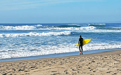 Photograph - Lone Surfer by Susan Wiedmann