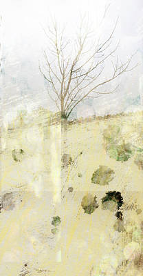 Lone Tree Abtract Art Art Print by Ann Powell