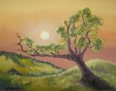 Dakota Painting - Lone Tree by Jerry McElroy