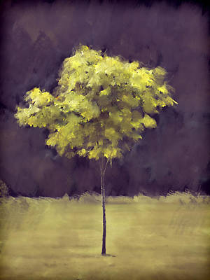Lone Tree Willamette Valley Oregon Art Print
