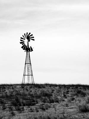 Art Print featuring the photograph Lone Windmill by Cathy Anderson