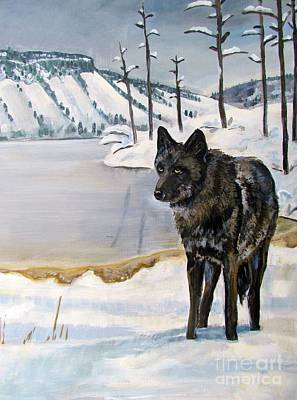 Wyoming Painting - Lone Wolf by Harriet Peck Taylor