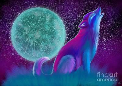 Lone Wolf Howling Art Print by Nick Gustafson