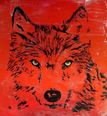 Wall Art - Painting - Lone Wolf by Mary Arneson