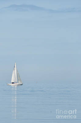 Sports Royalty-Free and Rights-Managed Images - Lone Yacht by Antony McAulay
