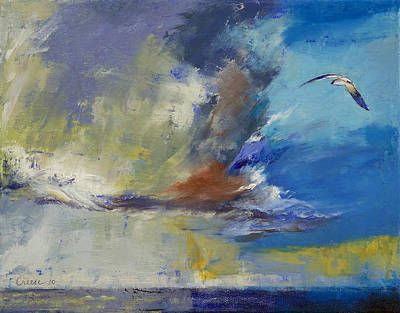 Cloudscape Painting - Loneliness by Michael Creese