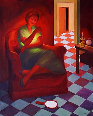 Painting - Loneliness Within by Clotilde Espinosa