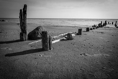 Evanston Photograph - Lonely Abandoned Pier by Mike Burgquist