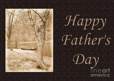 Digital Art - Lonely And Waiting Father's Day by JH Designs