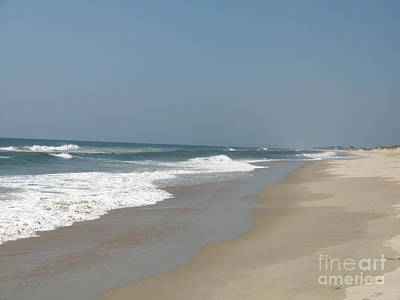 Lonely Beach On Cape Hatteras Art Print by Christiane Schulze Art And Photography
