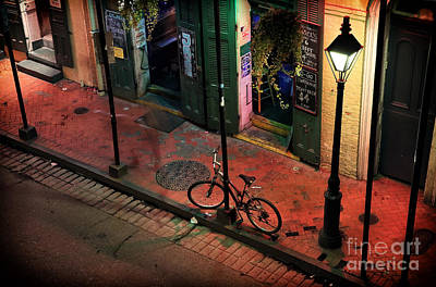 Lonely Bike On Bourbon Print by John Rizzuto