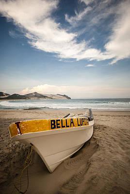 The Boat At Wild Mexico Beach Art Print