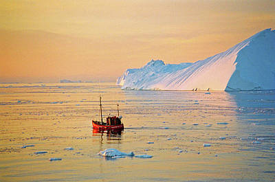 Photograph - Lonely Boat - Greenland by Juergen Weiss