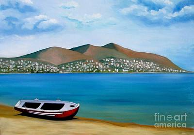 Painting - Lonely Boat by Kostas Koutsoukanidis