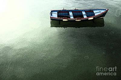 Cartoons Tees - Lonely boat by Perry Van Munster