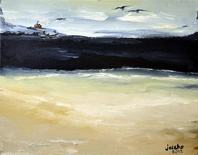 Sea Painting - Lonely Cabin by Jacabo Navarro