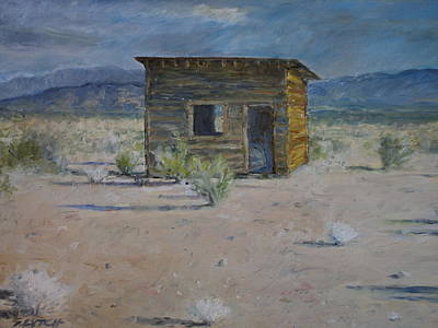 Painting - Lonely Cabin by Sandra Lytch