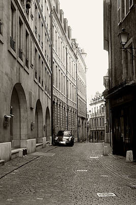 City Photograph - Lonely Car Parked On The Street by Celso Diniz