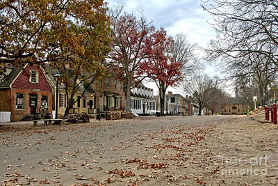 Art Print featuring the photograph Lonely Colonial Williamsburg by Olivier Le Queinec