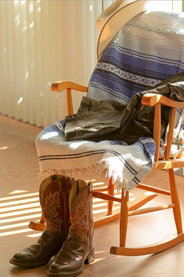 Rocking Chairs Digital Art - Lonely Cowboy by Amanda Browning
