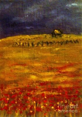 Lonely Farmhouse Art Print by C Fanous