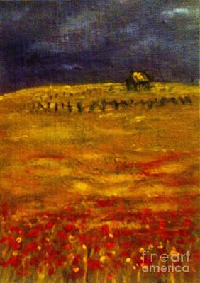 Lonely Farmhouse Print by C Fanous