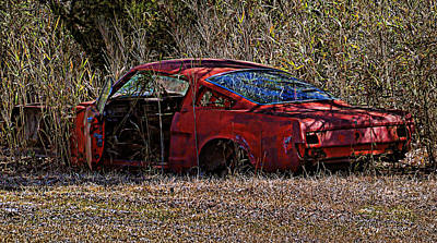 Art Print featuring the photograph Lonely Fastback by Victor Montgomery