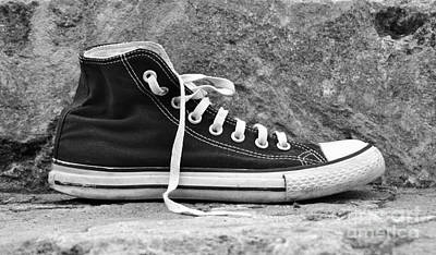 Converse Shoe Digital Art - Lonely Feet 01 by Bobby Mandal