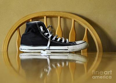 Converse Shoe Digital Art - Lonely Feet 02 by Bobby Mandal