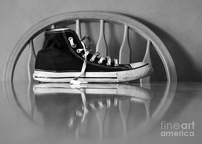 Converse Shoe Digital Art - Lonely Feet 03 by Bobby Mandal