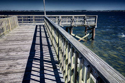 Photograph - Lonely Fishing Pier by Lewis Mann